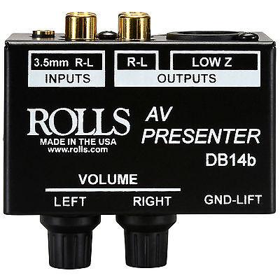 Rolls DB14b AV Presenter Stereo Patch DI