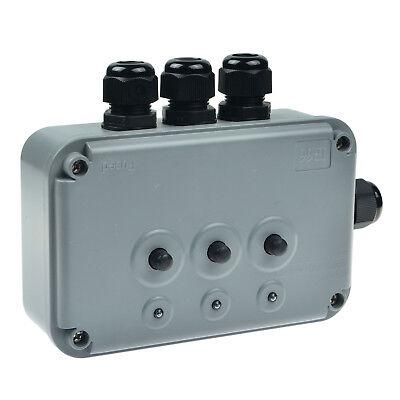 3 Gang Switch Box Ip66 Weatherproof Outdoor Waterproof New