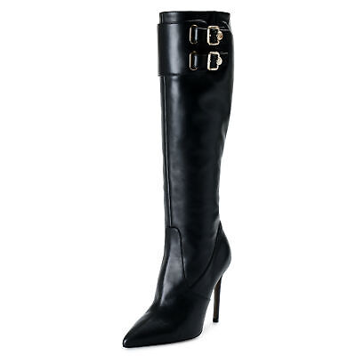 Versace Collection Women's Leather Boots High Heel Boots Shoes 7 8 9 10 11