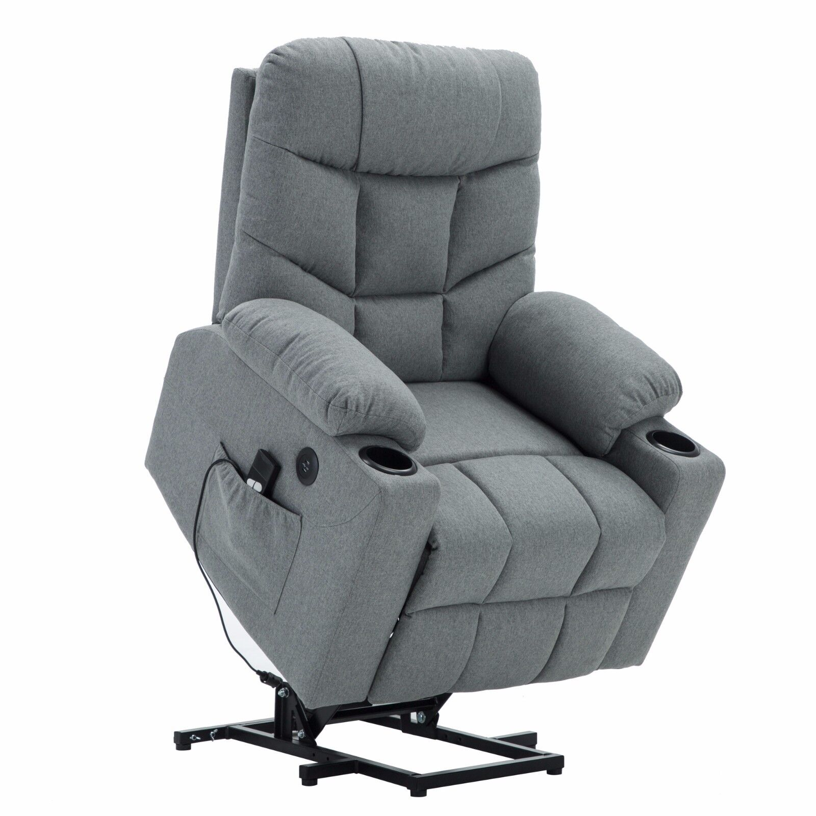 Power Lift Recliner Chair TUV Motor Lounge w/Remote USB Char