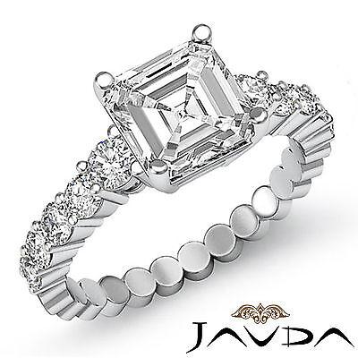 Brilliant Cut Asscher Diamond Stunning Engagement Ring GIA I VS2 Platinum 1.7 ct