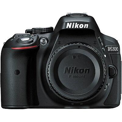 Nikon D5300 Digital SLR Camera Body 24.2MP Black USA