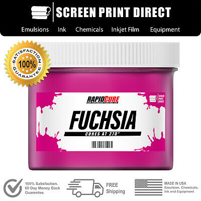 Fuchsia - Screen Printing Plastisol Ink - Low Temp Cure 270f - 8oz
