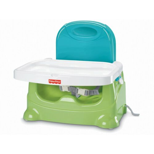 NEW Fisher-Price Healthy Care GREEN Booster Seat, Portable & Easy-Clean