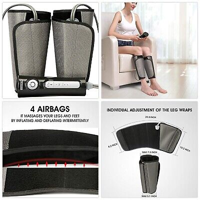 NEW QUINEAR Air Compression Leg Massager for Foot Calf Arm W