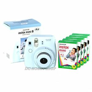 Fuji-instax-mini-8-blue-Fujifilm-instant-Polaroid-camera-50-film