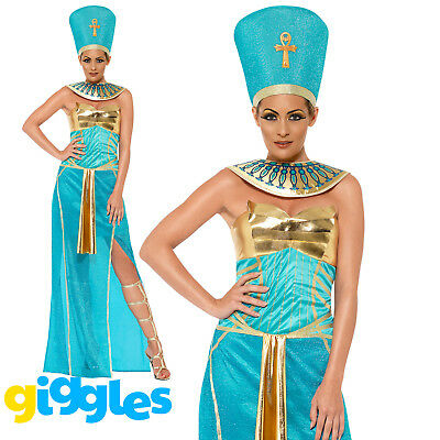 Queen Nefertiti Costume Ancient Egypt Goddess Womens Ladies Fancy Dress - Goddess Outfit