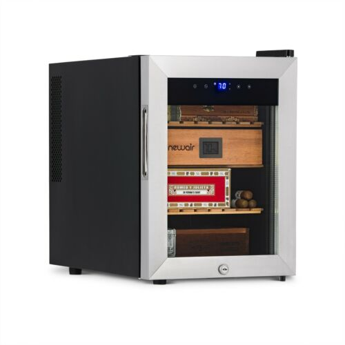 NewAir 250 Count Electric Cigar Humidor Wineador in Stainless Steel, NCH250SS00
