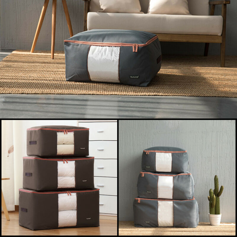 Storage Bag Box Jumbo Clothes Quilt Bedding Duvet Laundry Pillows Zipper