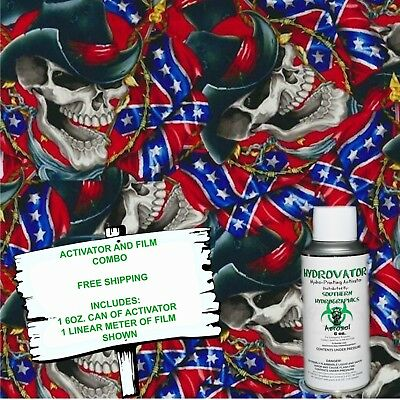 Hydrographic Film Water Transfer Hydro Dip 6oz. Activator Cowboy Skulls Kit