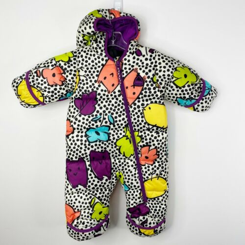 Burton Dryride Baby Girl Sz 6 12 Months Buddy Bunting One Piece Snowsuit Winter