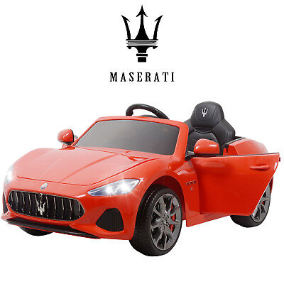 12V Maserati Gran Cabrio Kid Ride On Car Toy Electric Battery Remote Control Red