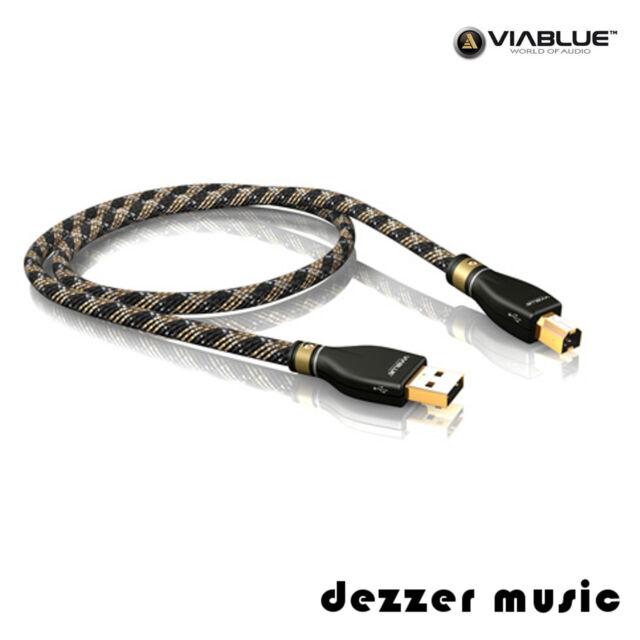ViaBlue 2m KR-2 Silver USB-Kabel 2.0 / Stecker A/B / 2,00m…HIGH END