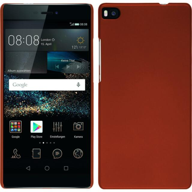 Hardcase Huawei P8 rubberized red Cover + protective foils