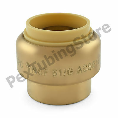 25 34 Sharkbite Style Push-fit Push To Connect Lf Brass Plugs Caps