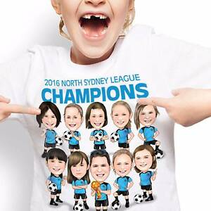 Proud of my team Caricature T-Shirt Gladesville Ryde Area Preview