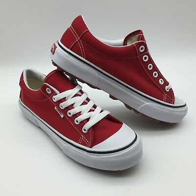 "Vans Men/Women's Shoes ""Style 29"" Racing Red/True White."