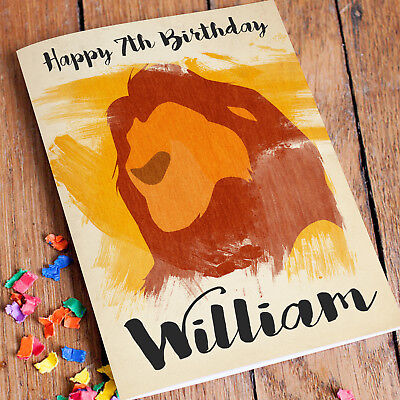 LION KING Personalised Birthday Card FREE Shipping | Daughter Son Girls Boys