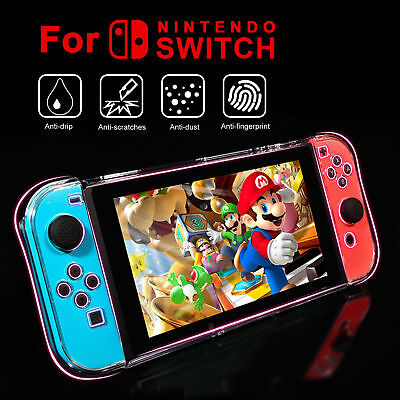 For Nintendo Switch Anti-Scratch 3-Part Design Protective Clear Hard Case Cover