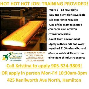 $16/HR GENERAL LABOUR - WALK IN THIS WEEK TO APPLY!