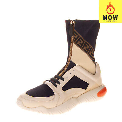 RRP €1200 FENDI ROMA High Top Sneakers Size 42.5 UK 8.5 US 9.5 Made in Italy