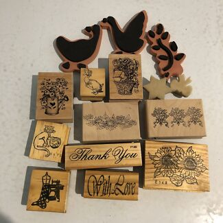 Stamps, craft scissors, craft punches & stencils