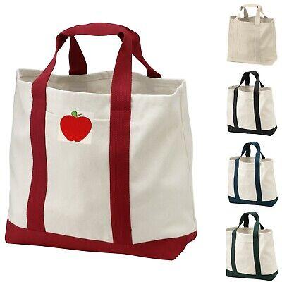 Apple Teacher Appreciation Gift Tote Bag Best Teacher Thank You 100% Cotton](Best Teacher Bags)