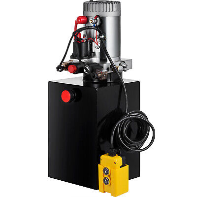 13 Quart Double Acting Hydraulic Pump Dump Trailer Unit Pack Lifting Crane