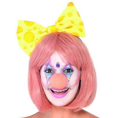 Pink Clown-Nase Geburtstagsparty Weiblich Zirkus Damen Mädchen Halloween Gesicht