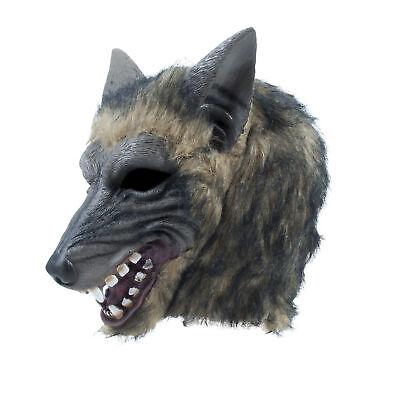Herren Wolf Voller Kopf Maske Gestromt Effekt Halloween - Wolf Kopf Kostüm