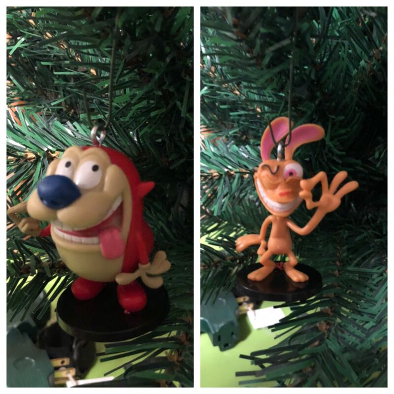Nickelodeon Ren And Stimpy Christmas Ornaments!!