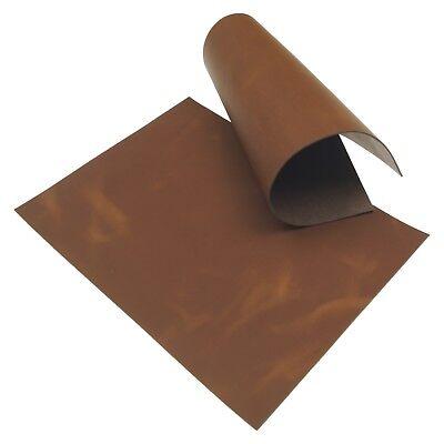 Rindleder Cognac Pull-Up Design 2,0 mm Dick A4 Echt Leder Braun Leather 33 - Leder Pull