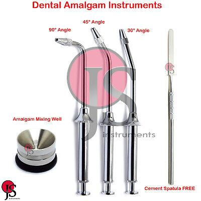 Dental Restorative Filling Material Amalgam Carrier Gun Well Mixing Spatula Lab