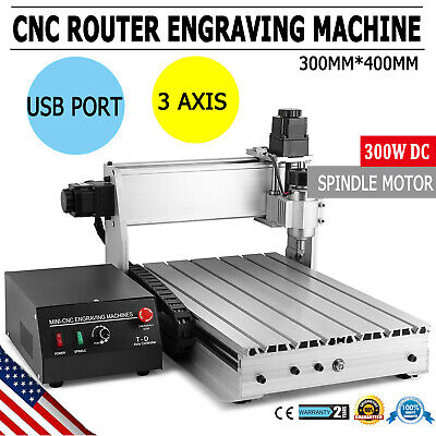 New Usb Cnc Router Engraver Engraving Cutter 3 Axis 3040 T-screw Desktop Cutting