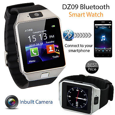 Bluetooth Smart Watch For Android HTC Samsung Phones+Camera SIM Slot Support