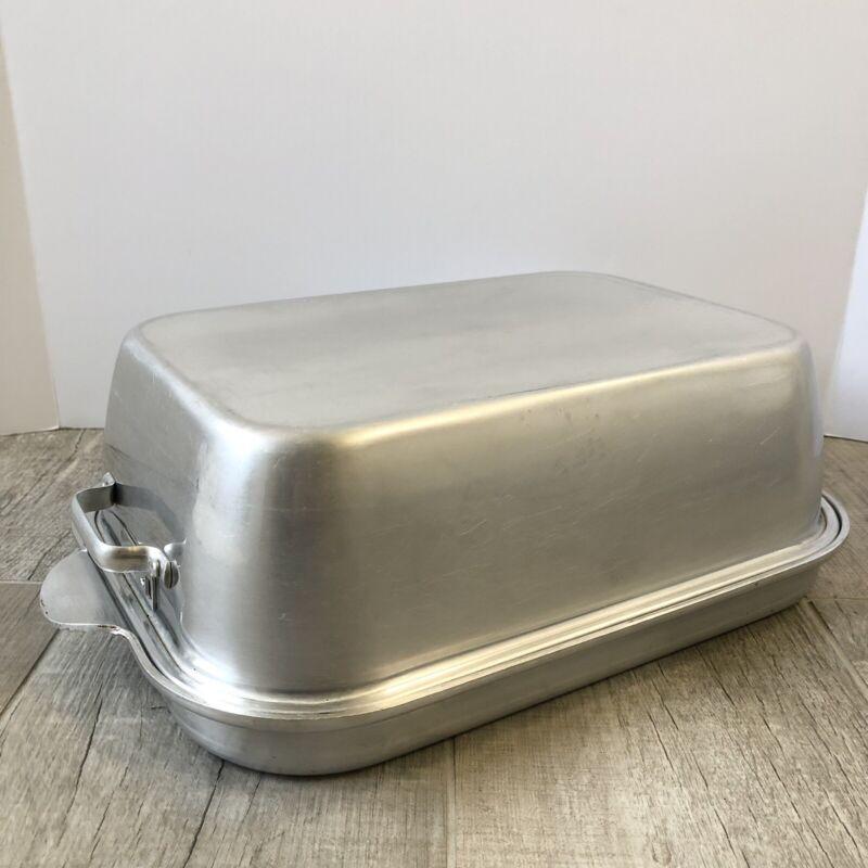 Vintage Wearever 2 Piece Aluminum Roasting Pan No. 918 & 818 15X11 USA