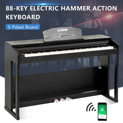 88 Key Weighted Hammer Action Keyboard Digital Piano w/Bluet