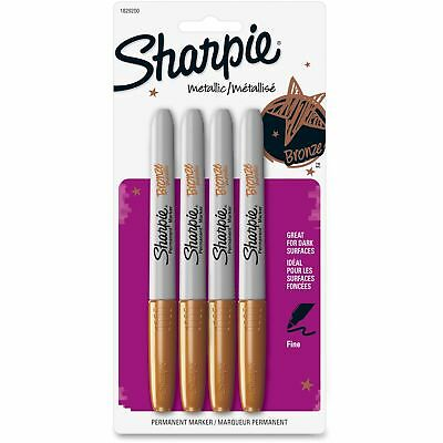 Sharpie Metallic Gold Permanent Markers 4 Pk Fine Tip Opaque Ink