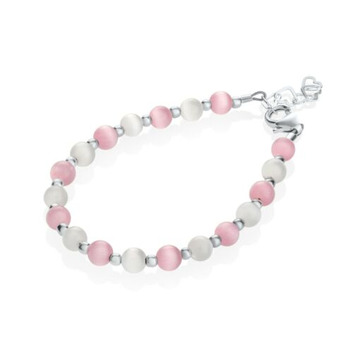 Pink and White Swarovski Pearl Beads Baby and Child Bracelet