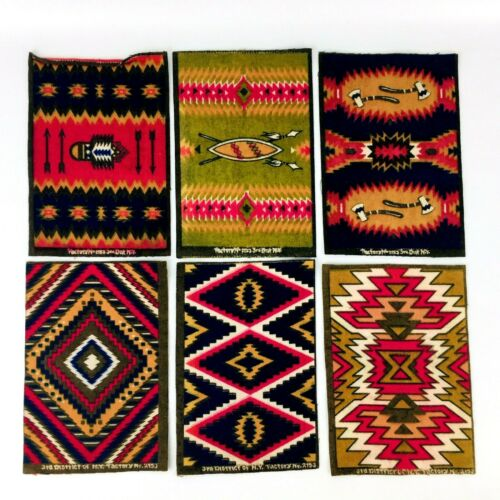 6 Antique Tobacco Felts Indian Rug Factory 2153 3rd District NY Double Side #C29