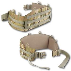 British Army MTP Molle Battle Belt - Military Combat Webbing Belt Padded Hip Pad