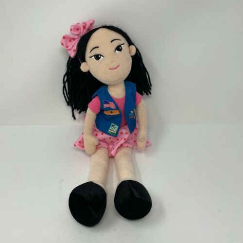 Girl Scouts Daisy Scout with Vest Pink Polka Dot Plush Doll Toy