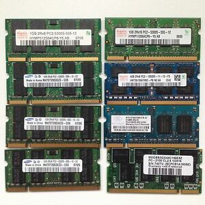 Various laptop Ram memory lot for sale