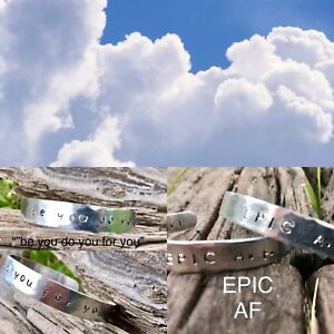 Personalized hand stamped braclets