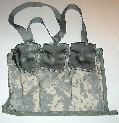 NEW US Army Military Surplus ACU Camo MOLLE II Magazine Bandoleer Utility Pouch