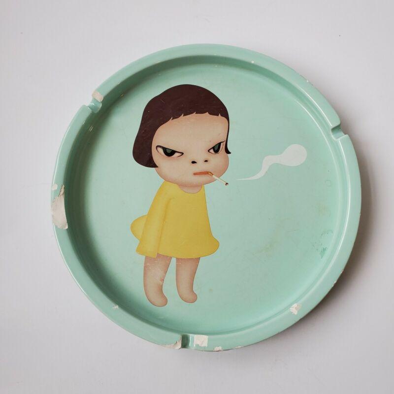 Rare Yoshitomo Nara Ashtray Too Young To Die Ceramic Art Bozart 2002