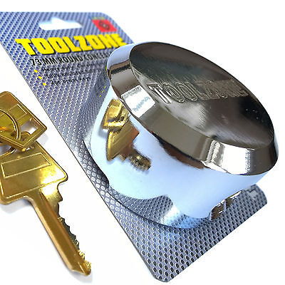Concealed Shackle Round Padlock 73mm. High Security Lock for Vans Trucks Shutter
