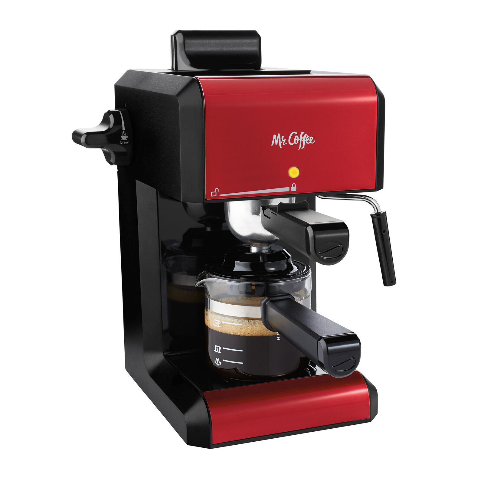 Mr. Coffee Café 20 Ounce Steam Automatic Red Espresso & Cap