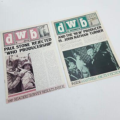 lletin Fanzine Zeitschrift Ausgabe 56 & 58 - Lesend Kopien (Who-bulletin)