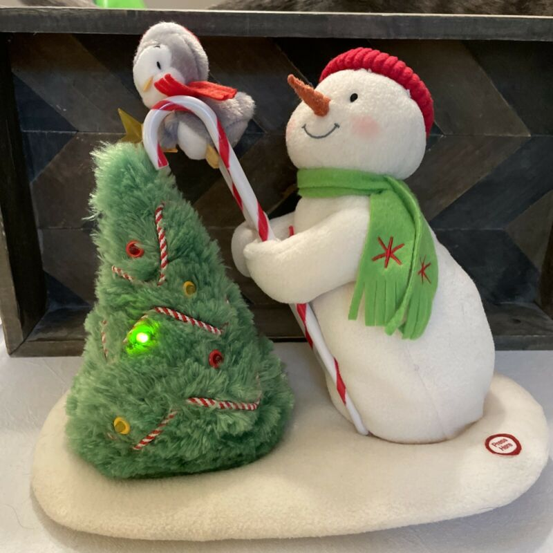 2010 Hallmark Jingle Pals Plush Tree Trimming Animated Singing Snowman ~ Works